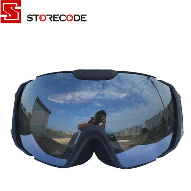 StoreCode Brand Ski Goggles Double UV400 Anti-Fog Women Men Skiing Snowboard Black Frame Snow Goggles