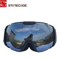 StoreCode Brand Ski Goggles Double UV400 Anti Fog Ski Mask Glasses Women Men Skiing Snowboard Black
