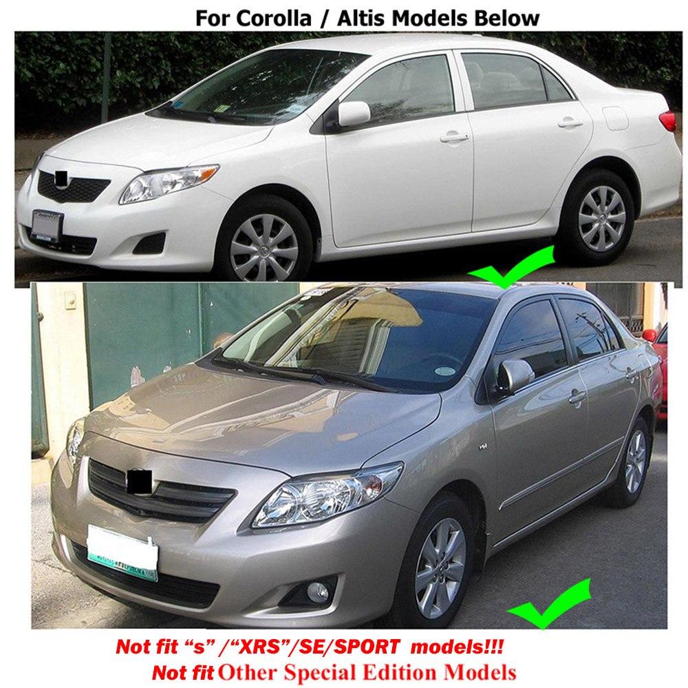 Car Mud Flaps Splash Guard Fender Mudguard for Toyota Corolla Sedan 2007-2013