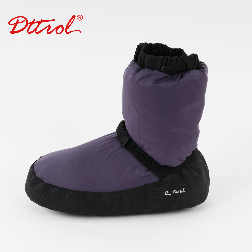 Girls Ballet Point Warm Shoes Ballet Castle Flo Ballet Dance Warm Boot Ballerina Warm-up Booties Grey/Black/Purple Dance Apparel