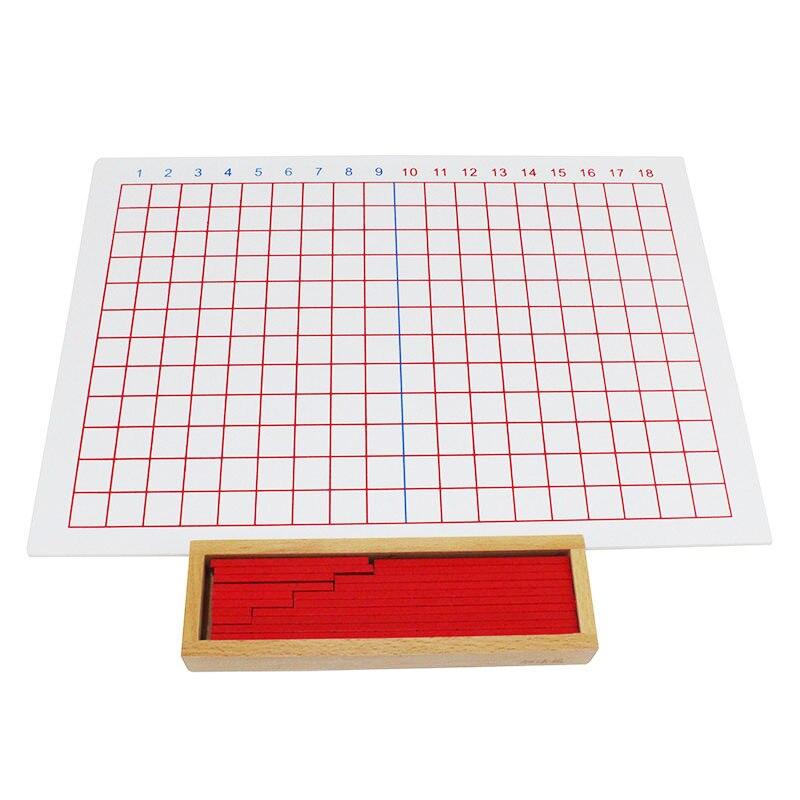 Montessori premiers outils pédagogiques mathématiques Puzzle jouet Addition et soustraction conseil bébé jouet en bois - 5
