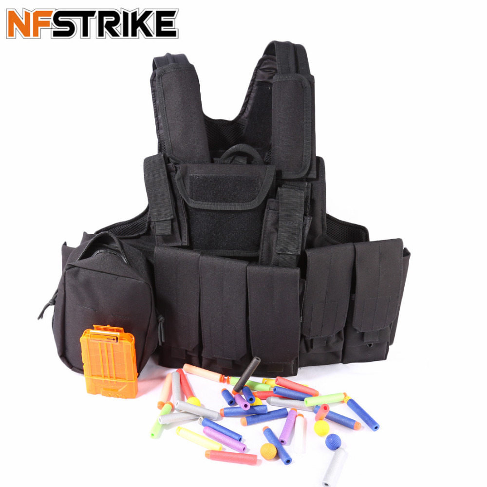 NFSTRIKE Eight-piece Tactical Protective parts for Nerf CS Defense - Black nfstrike multi function fsbe outdoor tactical stab resistant accessories for nerf cs defense black
