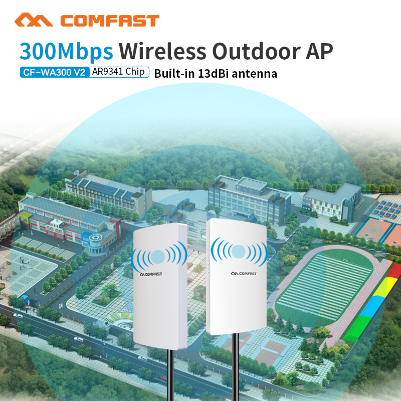 Waterproof 300Mbps 2.4G Outdoor CPE AP Router Long WiFi Signal Hotspot Amplifier Repeater Long Range Wireless PoE Access Point original xiaomi wifi repeater electric cat wifi rounter modem wireless range extender router access point signal amplifier