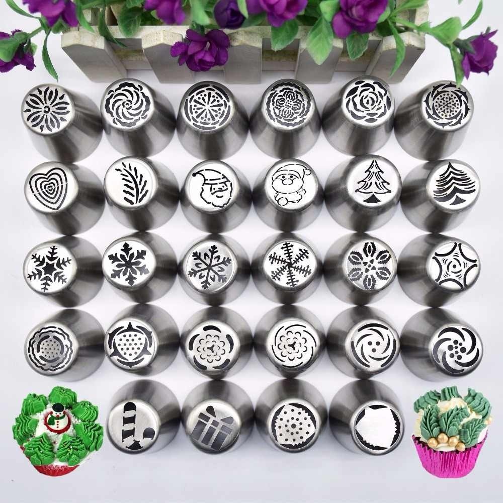 Christmas Snowflakes.New Snow Style Pastry Nozzle New Year Christmas Snowflakes Piping Tips Fondant Cake Diy Decorating Tools