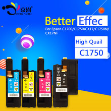 1 set compatibel color toner voor epson aculaser c1700 c1750 c1750n cx17 cx17nf printer