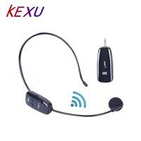 KEXU 3.5MM Lapel Mics UHF Wireless Microphone Voice Amplifier Professional Earphone MIC for facebok toutube skype Microphone