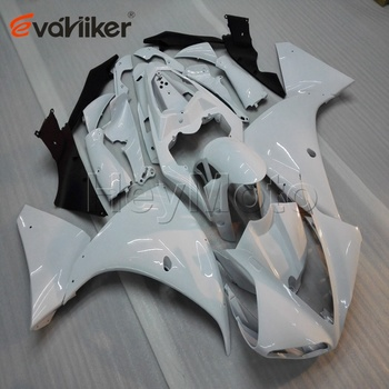 Custom ABS Plastic fairing for YZF-R1 2009-2011 2010 YZF R1 09 10 11+5Gifts+Tank cover+Injection mold white