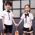 Niños Niñas Juegos de Ropa Para Niños Coreanos Juego para Niñas Uniforme Escolar Japonés Uniforme Escolar A Cuadros para Los Niños Adolescentes