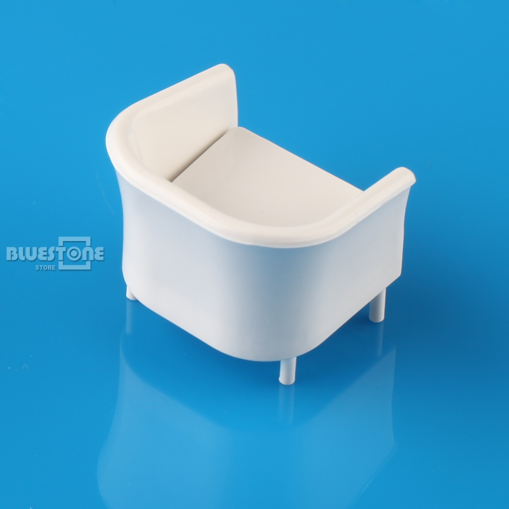 8pcs White Chairs Model Simple style 1/25 G Dollhouse Miniature ...