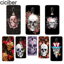 ciciber Flower Skull Phone Case For Oneplus 7 Pro 6 5 T Soft TPU Back Cover Clear Coque for 1+7 Pro 1+ 6 1+5 T Fundas Shell Capa