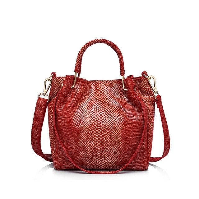 Женская маленькая ручная сумка из натуральной кожи REALER