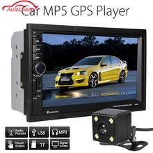 7 Pulgadas 2 Din Car Dvd Player Reproductor Multimedia Del Coche de Navegación GPS Bluetooth + Cámara + EU/AU/EE. UU. mapa