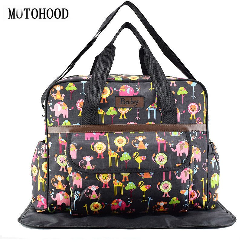 8c399a1db7 MOTOHOOD 40*29*14cm 4PCS Car Print Mother Bag Baby Diaper Bags Sets  Multifunctional Baby Nursing Nappy Bag For Mom Organizer