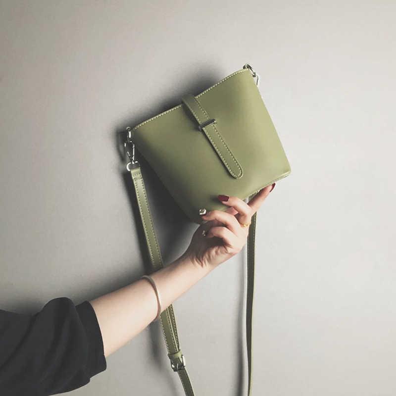 MONNET cauty nuevas bolsas para mujeres concisa Casual moda bandolera Color sólido amarillo verde caqui Beige negro femenino cubo