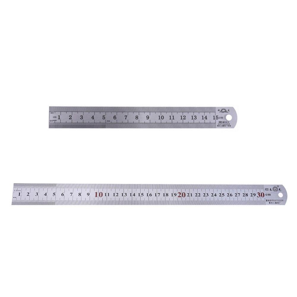 ᓂ12 pulgadas/6 pulgadas métricas imperial Acero inoxidable regla ...