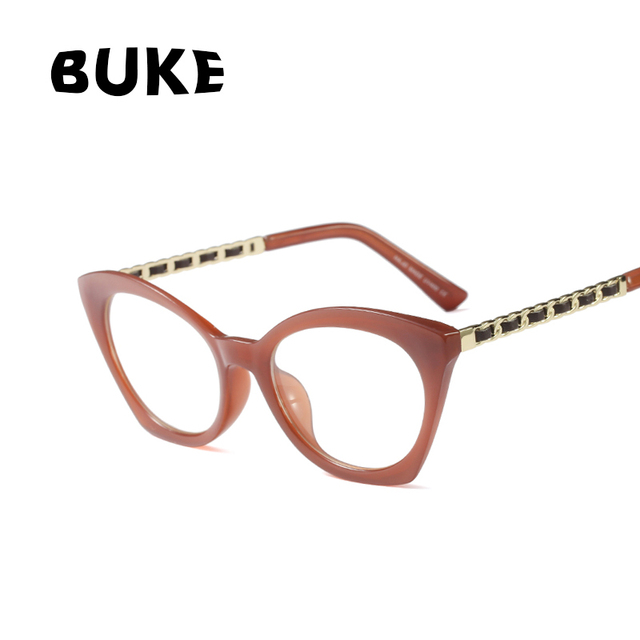 BUKE 2018 Fashion Cat Eye Glasses Frames Women Brand Design White ...