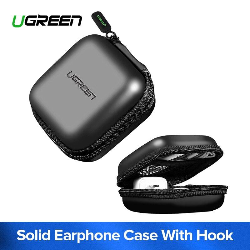 Ugreen Earphone Case Hard Headphone Bag for Apple Airpods Earpods Sennheiser Ear Pads Wireless Bluetooth Earphone Accessories цена