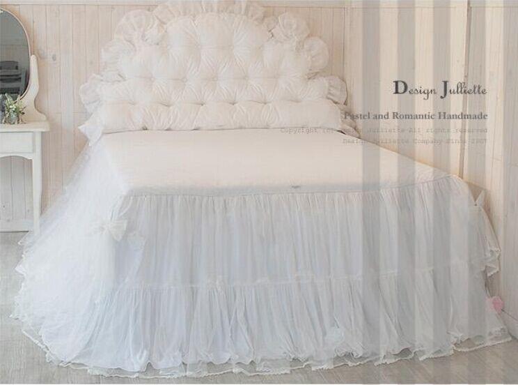 € 149.43 |Hot 4 pièces/ensemble romantique blanc dentelle rose ensemble de  literie princesse housse de couette ensembles literie pour mariage ...