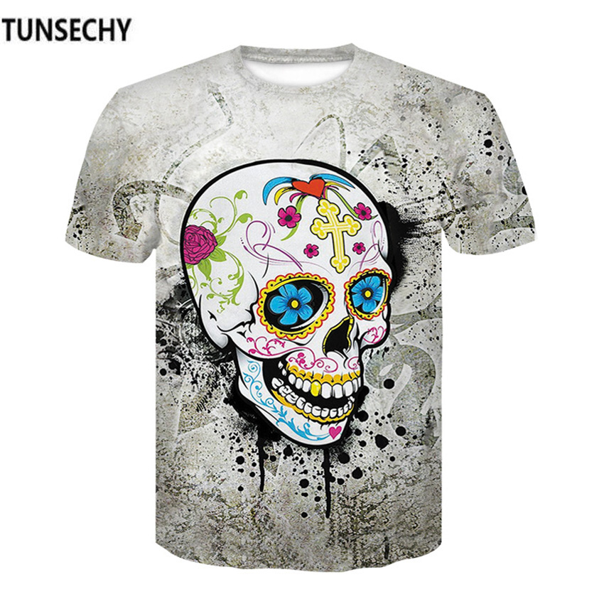 TUNSECHY Brand 3D Printed T-shirts Men Compression Shirts Short sleeve Costume crossfit fitness Clothing Tops Male T-shirts