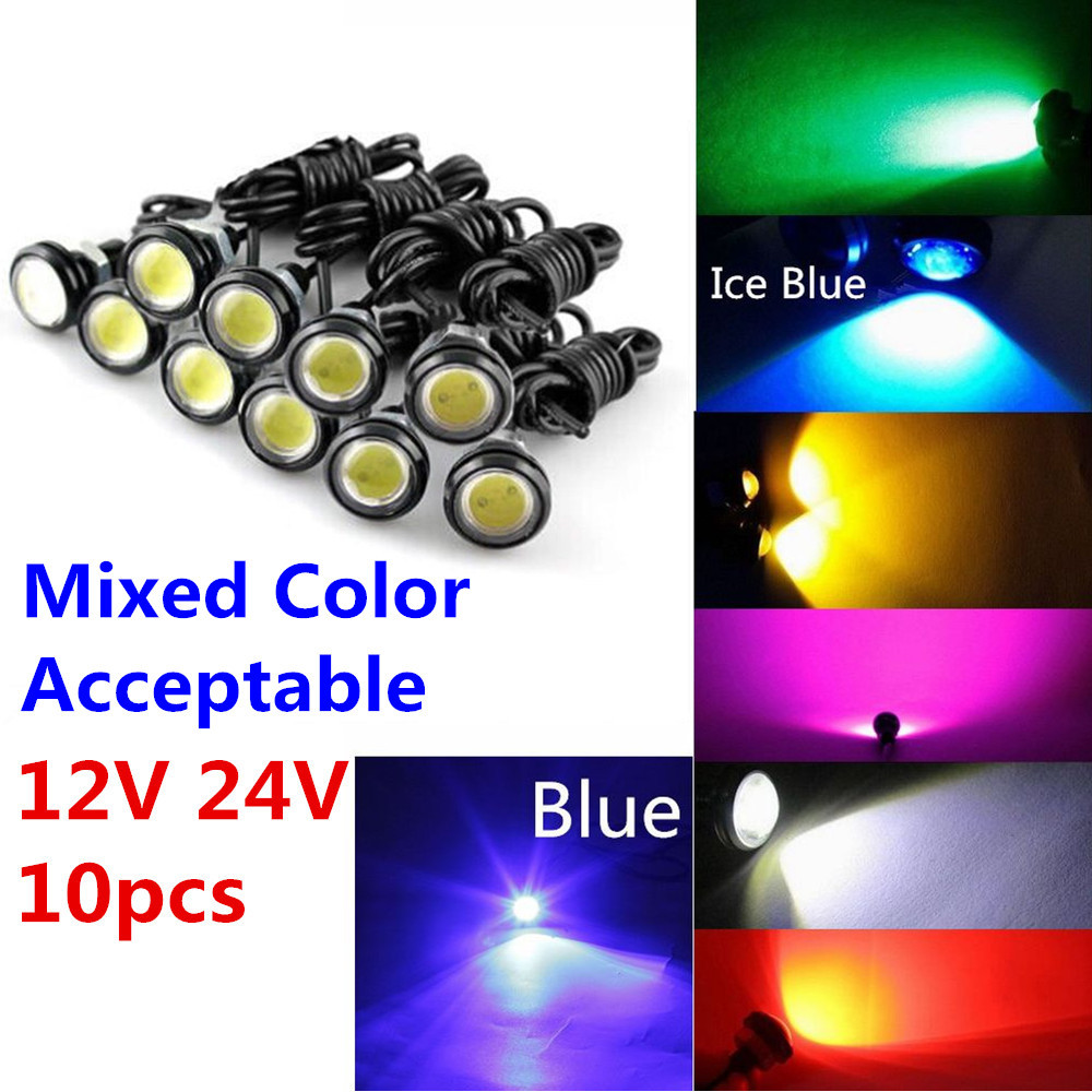 цена на CYAN SOIL BAY 9W 12V 24V 18MM 23MM LED Eagle Eye Light Car Fog DRL Daytime Reverse Parking Signal Yellow Amber Blue White Red