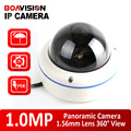 Панорамный Купольная Ip-камера 720 P Открытый POE Рыбий глаз Водонепроницаемый, H.264 P2P Металлический Корпус 180/360 Градусов Onvif IP Cam