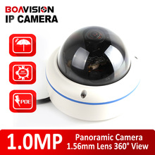H.264 Открытый Купольная POE Панорамный Ip-камера 720 P Рыбий глаз 1.56 мм Водонепроницаемый Onvif, P2P Металлический Корпус 180/360 градусов Широкий Угол