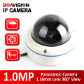 Panoramic Dome IP Camera 720P Outdoor POE Fisheye Lens Waterproof ,H.264 P2P Metal Housing 180/360 Degree View Onvif IP Cam
