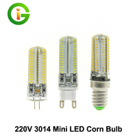 LED Corn Bulb 220V E14 G9 G4 3014 Silica Gel LED Bulb 64LED 104LED 10pcs Lot