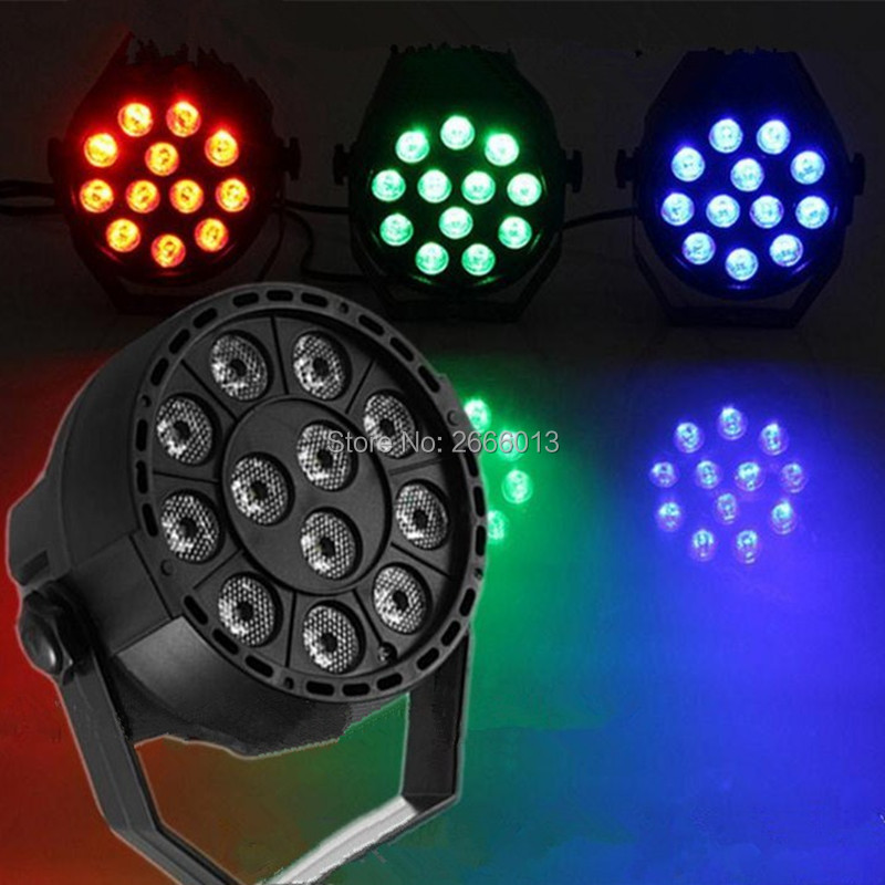 12 LEDS 3IN1 RGB LED par light DMX512 Sound control colorful LED stage light for disco Party effect lighting wedding Xmas lamps wireless romote control led par cob 30w lighting dmx control for stage lighting effect professional for dj party club disco
