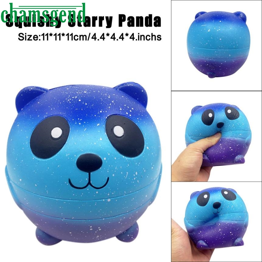 antistress trick slime toy antistress toy simulation Starry Cute 11cm Panda Baby Squishy Slow Rising Squeeze for kids ov22 p30