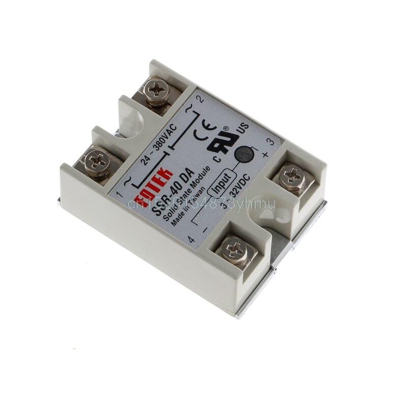 24V 380V SSR 40DA 40A 3 32V DC AC Solid State Relay Module L057 new hot