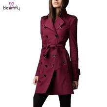 Sobretudo feminino 2016 women coats and jackets winter double-breasted especially Windbreaker long sleeve Slim jacket female