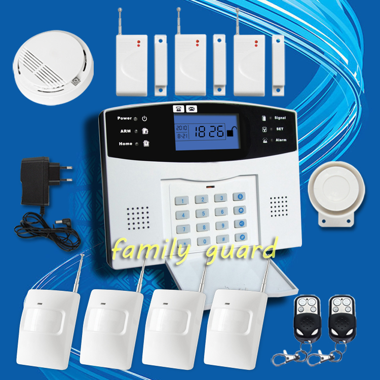 ФОТО DHL Free Shipping!latest Special offer Wireless GSM SMS  Alarm System LCD Screen Remote Intercom/Monitor/Arm/Disarm+Smoke Sensor