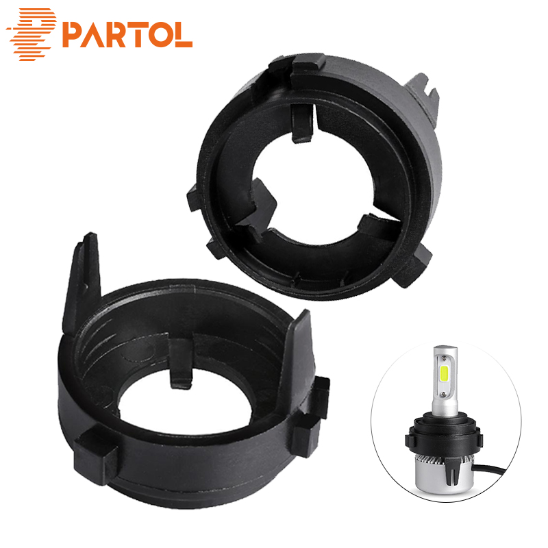 Partol H7 LED Headlights Bulbs Base Holders Adapter Car Light Sockets For VW Volkswagen GOLF 6/Multivan/Touran/Sharan/Scirocco