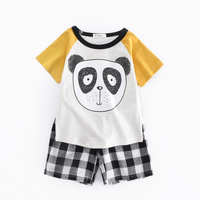 Kids Casual Clothes Boys Fashion 2017 Summer Toddler Boys Clothing Sets For Children Panda Pattern Tshirts