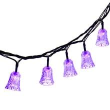 40 LED 25ft 8 Modes Bell Solar Christmas Solar Lamp Waterproof Led Outdoor Lighting Novelty Decorative Fairy String Light