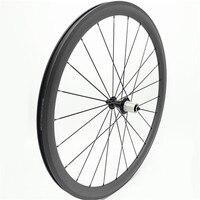 700c bicycle road wheel rear powerway R13 hubs 21/24H 38x25mm bicycle wheels carbon road wheels clincher wheel  carbon wheelset