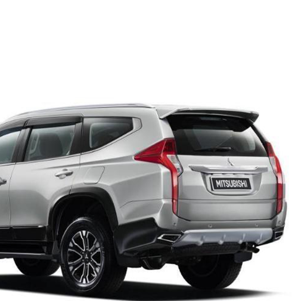 SHCHCG ABS Plastic Unpainted Primer Rear Trunk Wing Spoiler Fit For Mitsubishi Pajero Sport Spoiler 2016 2017 2018 Car Styling