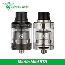Original Heavengift Augvape Merlin Mini RTA Atomizador 2 ml Único/doble bobina Cubierta Inferior de Doble Flujo de aire Merlin Mini Tanque Vaping RTA