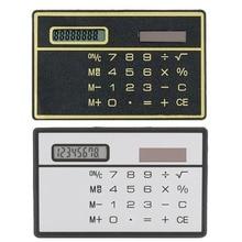 8-значный ультра тонкий солнечный Мощность калькулятор с Сенсорный экран дизайн кредитной карты Портативный мини калькулятор для Бизнес школы