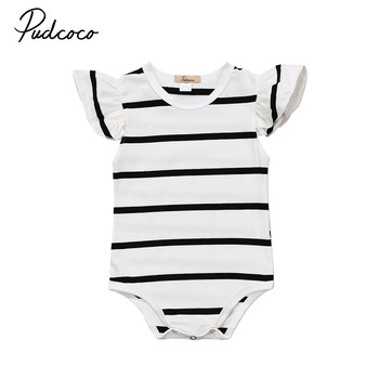 Fashion Baby Romper Toddler Infant Girl Striped Cotton Romper Bodysuit Jumspuit Clothes Outfit 0-18M
