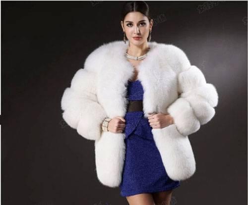Wholesale New 2014 Autumn Winter Fashion Women White Faux