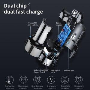 Image 5 - Chargeur rapide de voiture USB Baseus 45W 4.0 3.0 pour Xiaomi Mi Huawei Supercharge SCP QC4.0 QC3.0 chargeur rapide de téléphone de voiture USB C