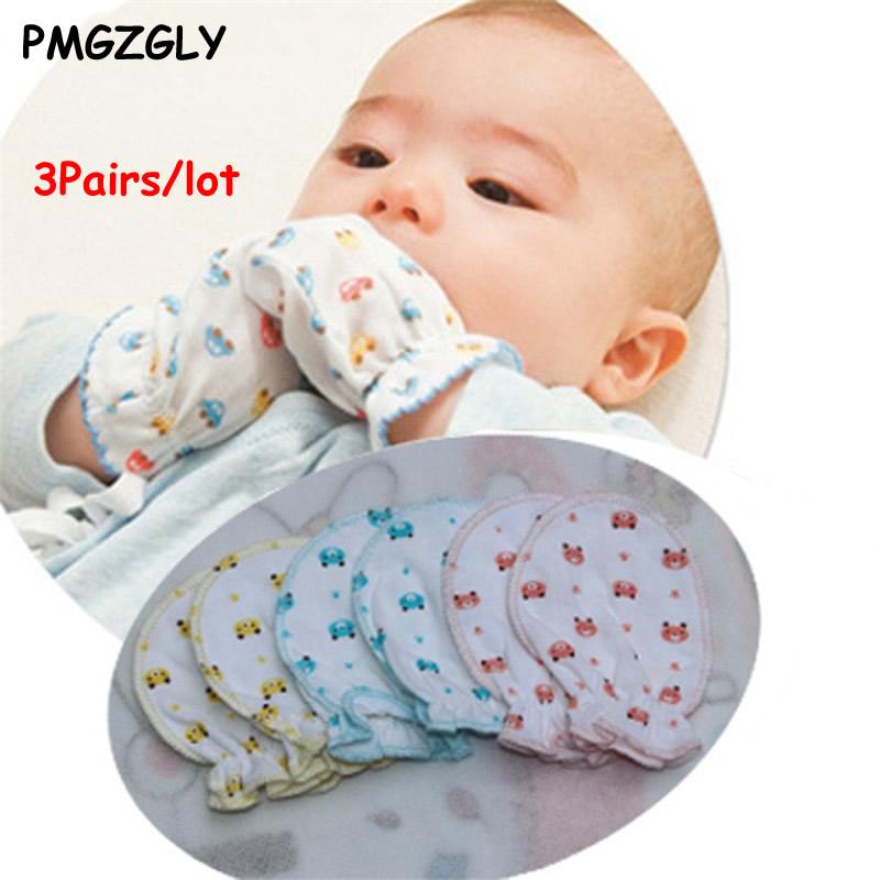 97130218f 4 pc lot Newborns Gloves 100% Super Soft Cotton Baby Gloves Four ...