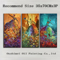 Artist Hand painted High Quality Abstract Group Dancer Oil Painting On Canvas Beautiful Ballet Dancer Canvas Decorative Painting