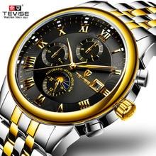 メンズ腕時計自動機械式時計 TEVISE ムーンフェイズ防水発光日付腕時計自動男性ボーイ腕時計