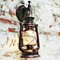 Retro Estilo Europeu Da Lâmpada de Parede Do Vintage Lâmpadas de Querosene Ao Lado de Luz Para Bar Café Casa Levou Luzes Do Banheiro