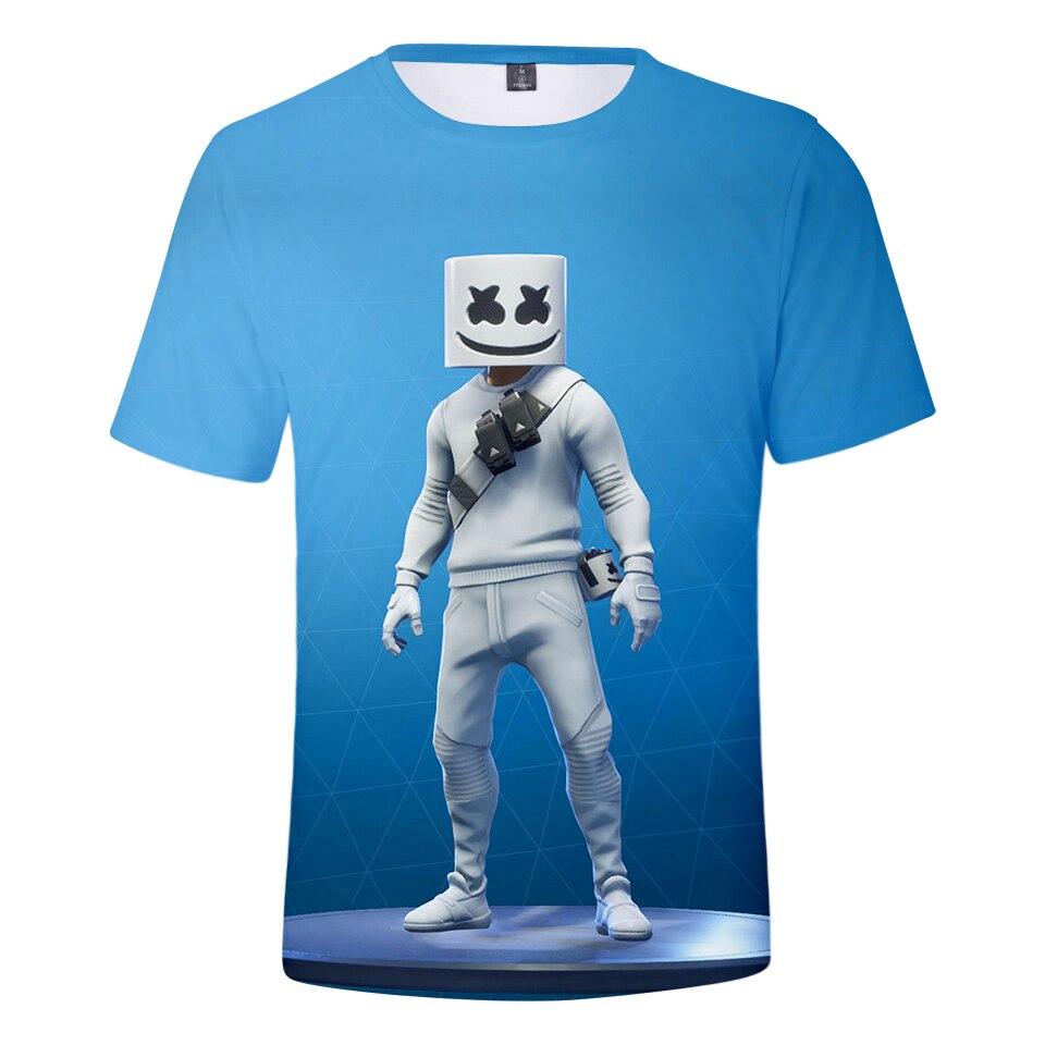 New Style 3D Marshmello   T  -  shirt   Men/women Summer Harajuku Hip Hop Streetweat Marshmello 3D Print Men's   t     shirt   Casual Clothes