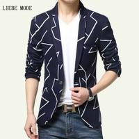 New Arrivals 2016 Black Royal Blue Mens Summer Slim Fit Casual Blazer Fashion Homme British Style