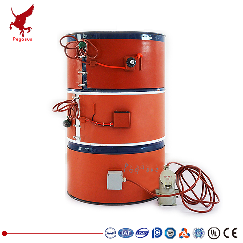 250 mm wide Various lengths and power Silicone rubber oil drum heating plate Electrothermal antifreeze insulation Drum heatin 180 mm wide 900 mm length silicone rubber heating plate heating belt bucket heater heating cable